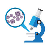 istock Microscope. Laboratory equipment, research with microbes in microscope 872482918