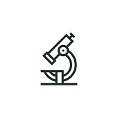 istock Microscope Line Icon 1073978672
