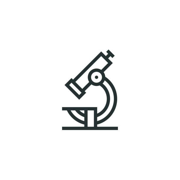 bildbanksillustrationer, clip art samt tecknat material och ikoner med mikroskop ikon - microscope