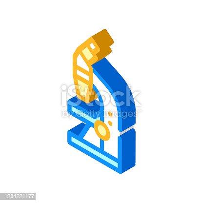 istock microscope tool isometric icon vector illustration sign 1284221177