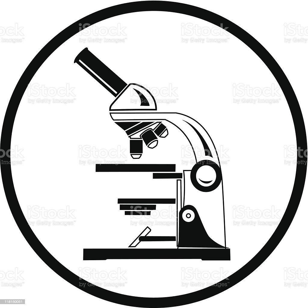 microscope vector art illustration