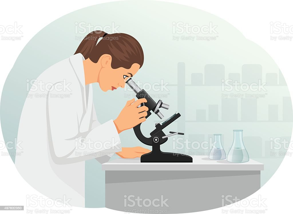 Microscope vector art illustration