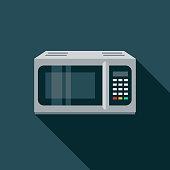 istock Microwave Flat Design Appliance Icon 1081123476