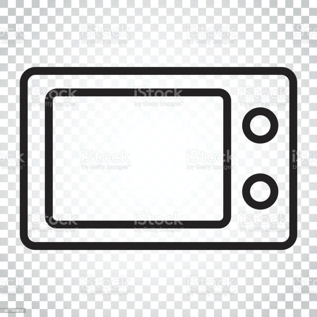 Microwave flat vector icon. Microwave oven symbol illustration. Business concept simple flat pictogram on isolated background. vector art illustration