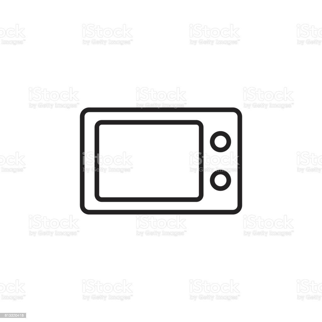 Microwave flat vector icon. Microwave oven symbol  illustration. vector art illustration