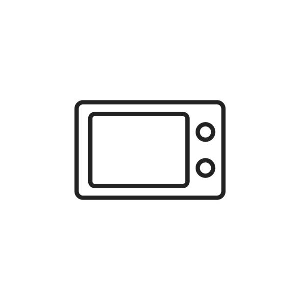Microwave Oven Symbols: Royalty Free Consumer Electronics Show Clip Art, Vector