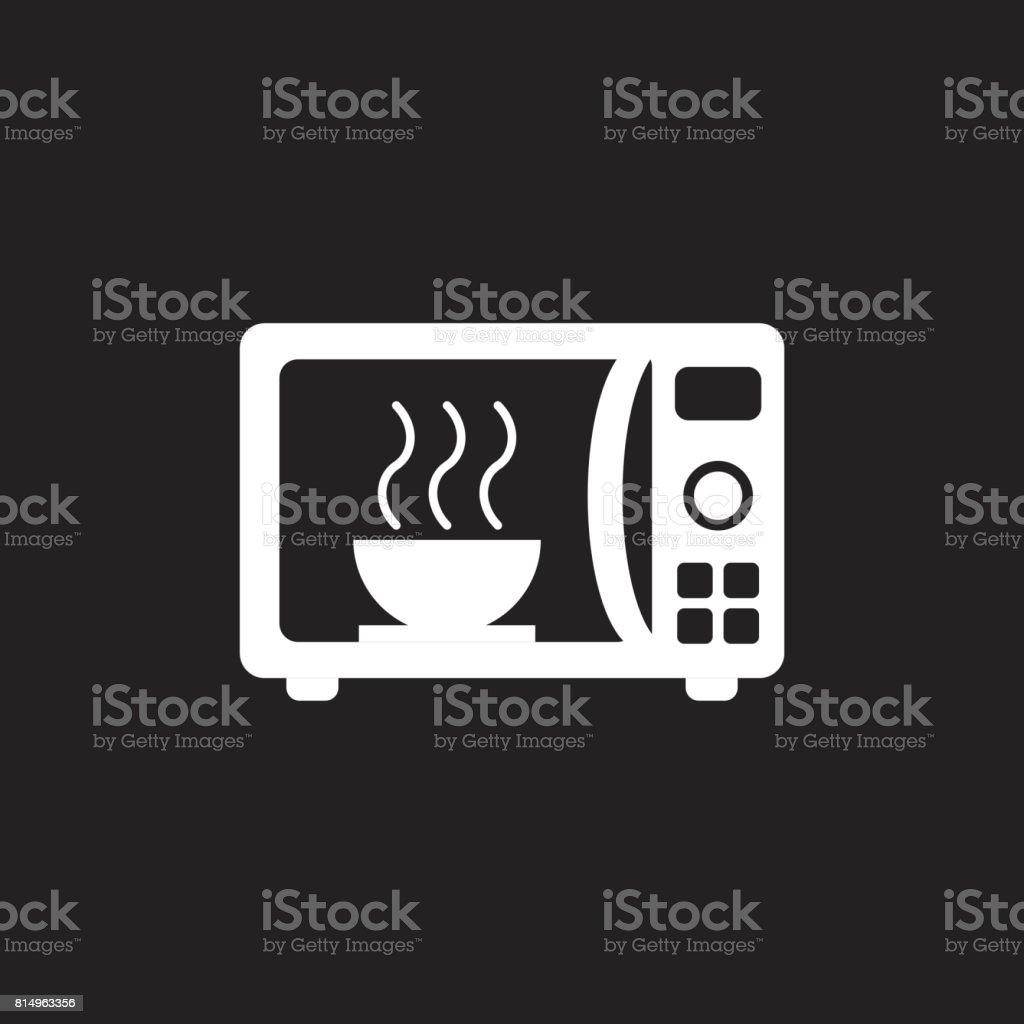Microwave flat vector icon. Microwave oven symbol logo illustration. vector art illustration