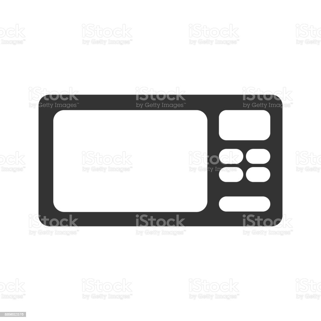 Microwave Icon. Simplified microwave icon vector. Kitchen cooking electrical  food tool. Design web