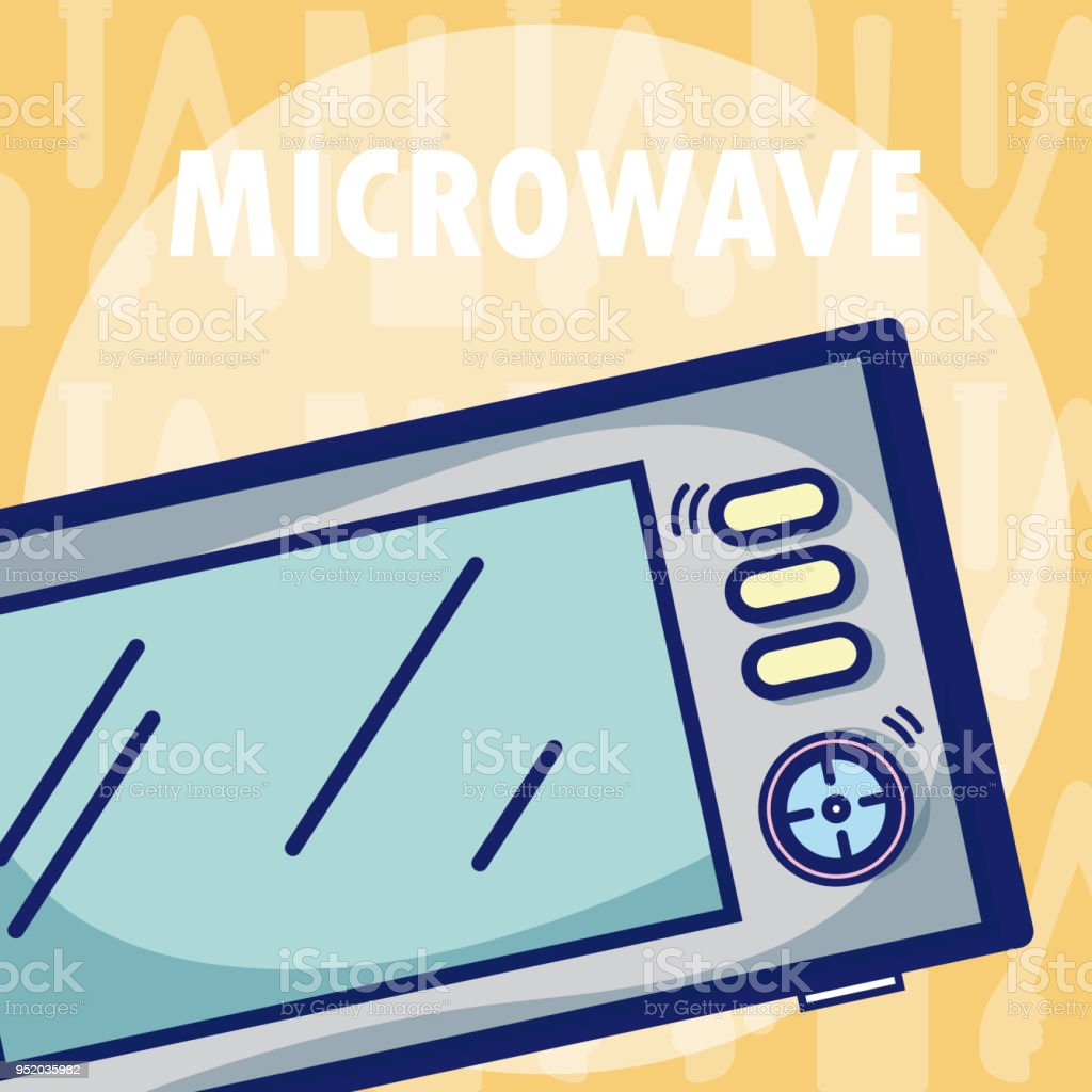 Microwave Kitchen Equipment Stock Vector Art & More Images of Chef ...