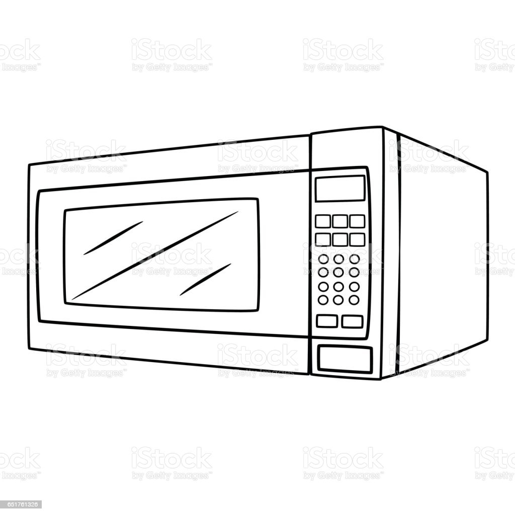Cartoon Microwave Oven ~ Microwave oven cartoon drawing stock vector art more
