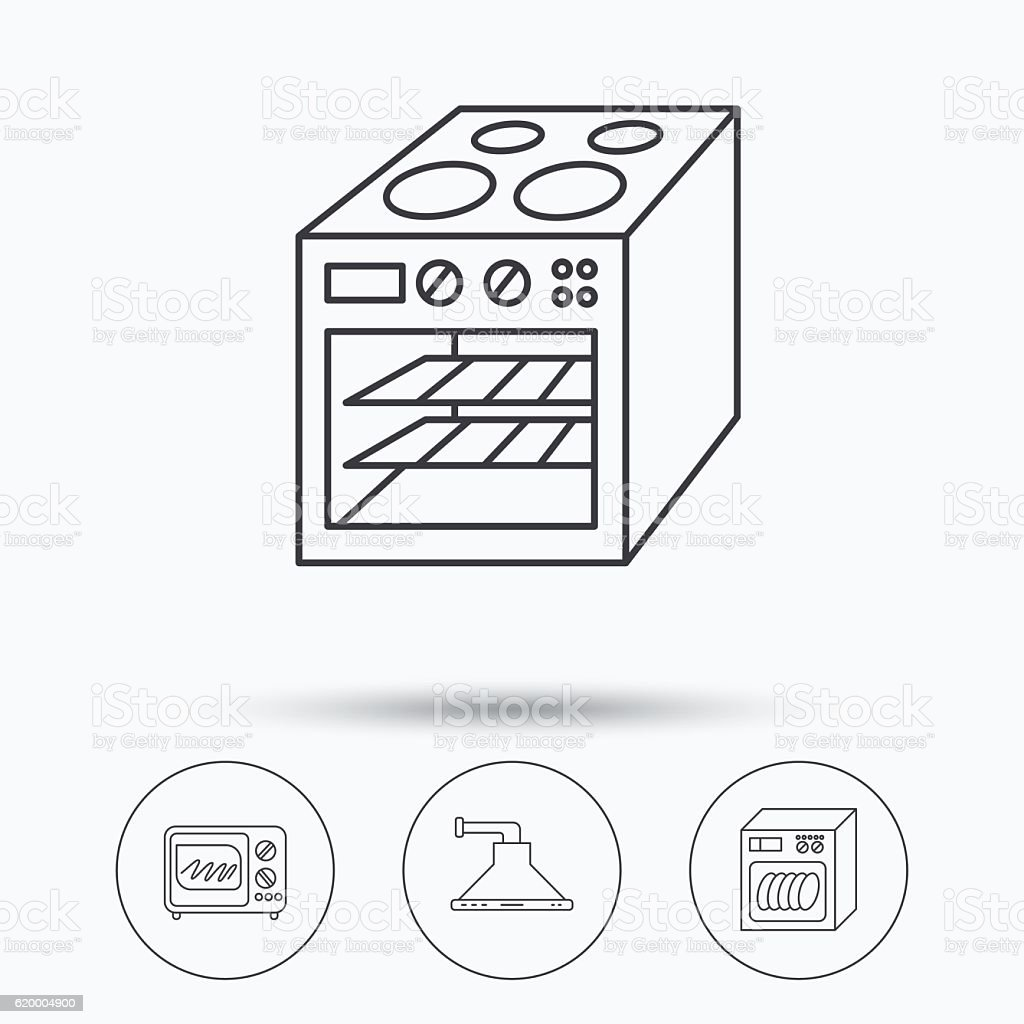 Microwave Oven Dishwasher And Kitchen Hood Stock Vector