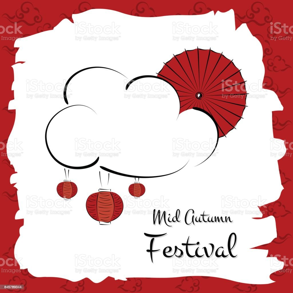 Mid Autumn Festival vector (Chuseok) vector art illustration