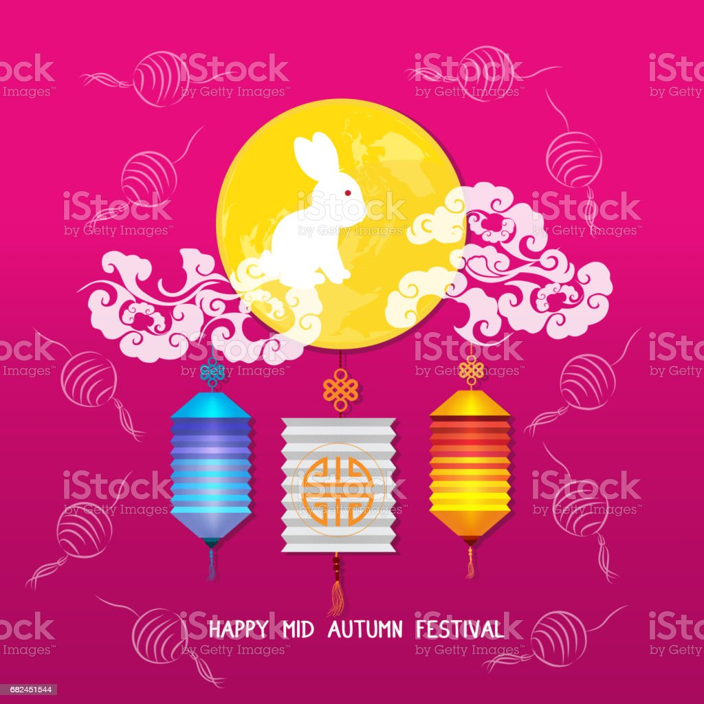 Mid Autumn Lantern Festival vector background with moon rabbit royalty-free mid autumn lantern festival vector background with moon rabbit stock vector art & more images of ancient