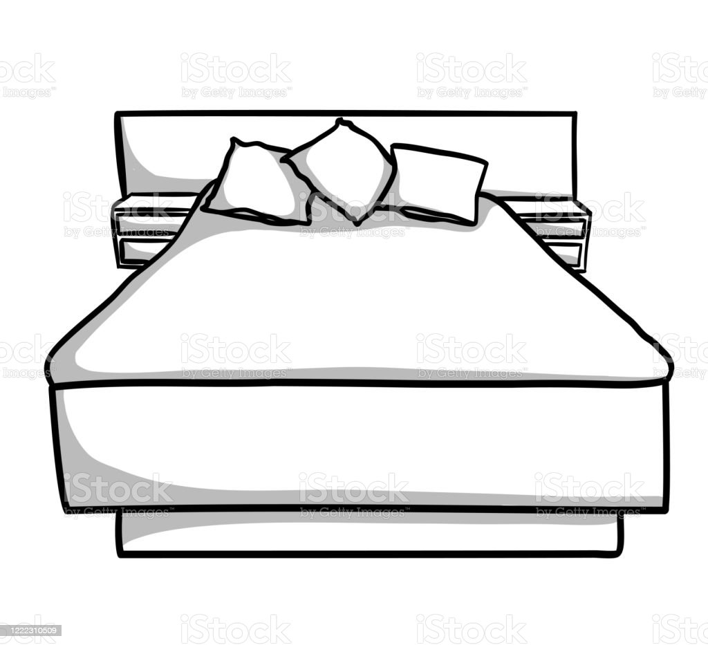 Mid Century Modern Bed Stock Illustration Download Image Now Istock