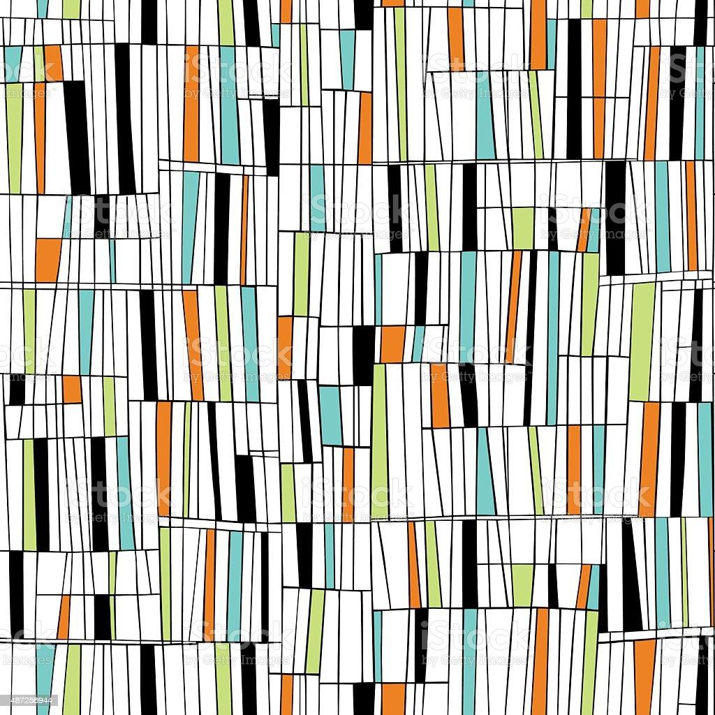 Mid Century Seamless Pattern vector art illustration