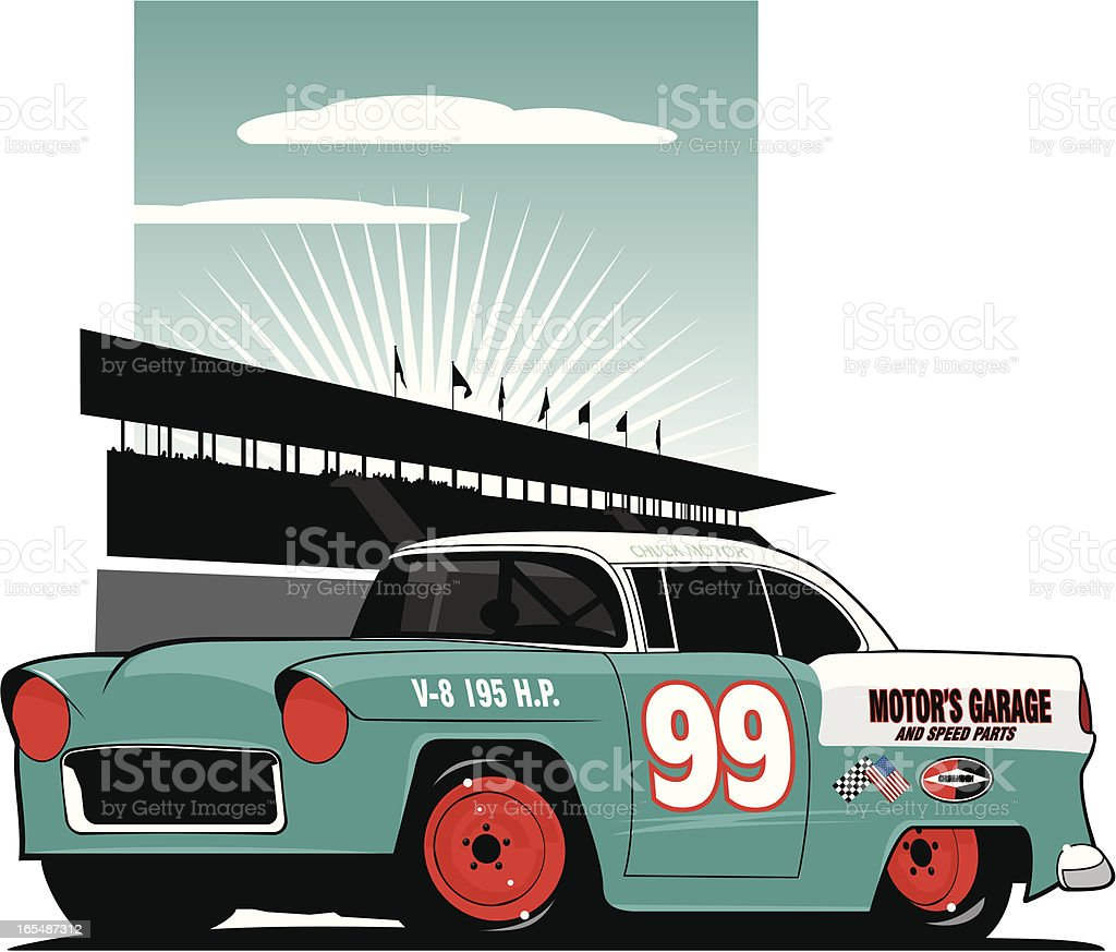 Mid Fifties Stock Car - Royaltyfri 1950-1959 vektorgrafik