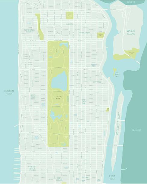 mid manhattan map - new york map stock illustrations, clip art, cartoons, & icons
