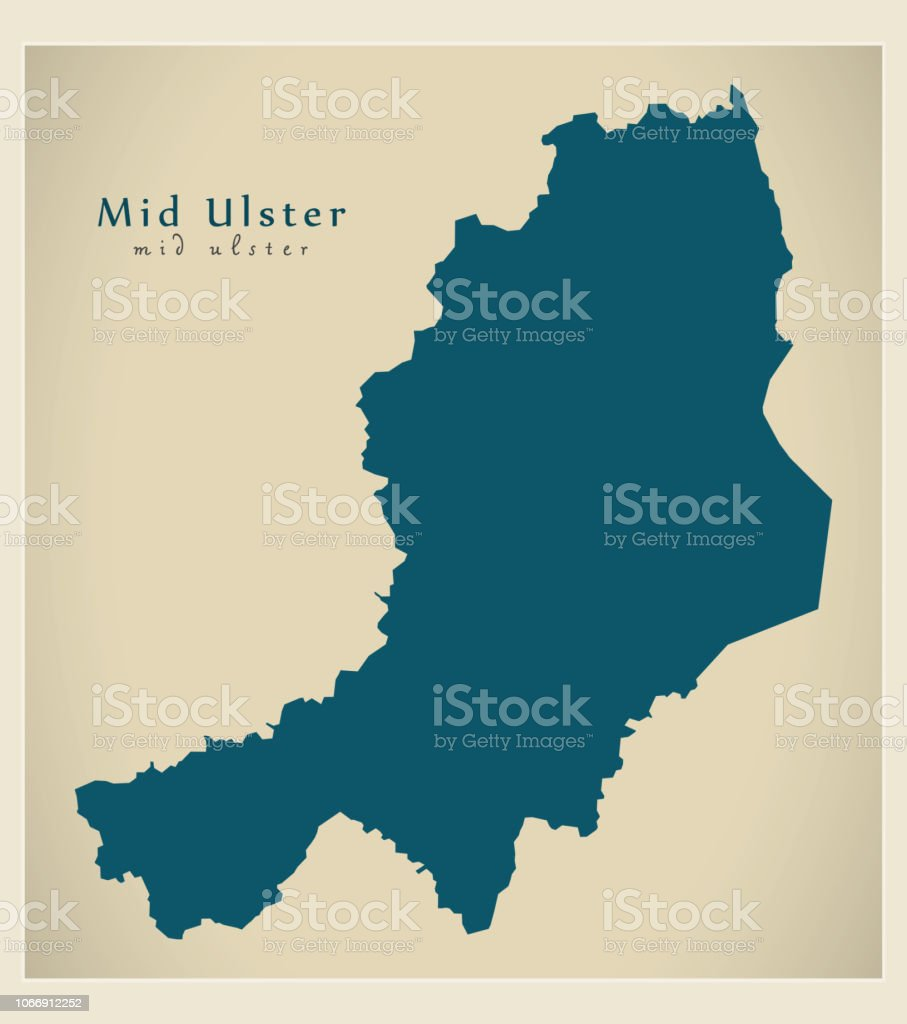 Mid Ulster District Map Of Northern Ireland Stock Vector Art More