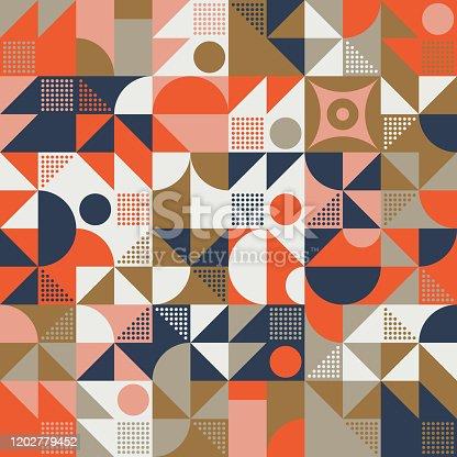 istock Mid-Century Abstract Vector Pattern Design 1202779452