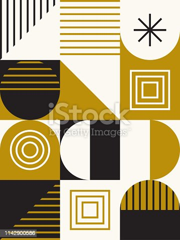 Abstract design in retro midcentury style. Vector artwork is easy to colorize, manipulate, and scales to any size.