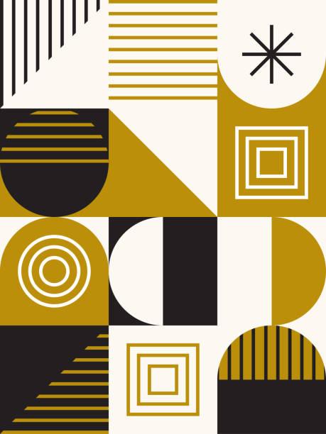 Midcentury Geometric Design vector art illustration