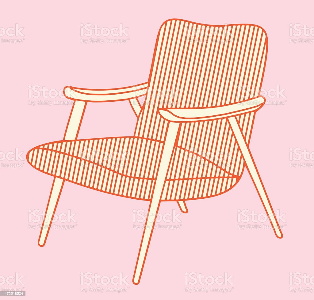 Picture of: Midcentury Modern Chair Stock Illustration Download Image Now Istock