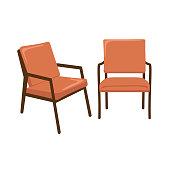istock Mid-Century Modern Lounge Chair 1132106072