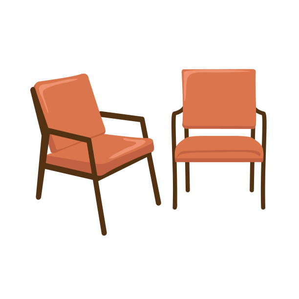 bildbanksillustrationer, clip art samt tecknat material och ikoner med mitten av århundradet modern lounge chair - stol