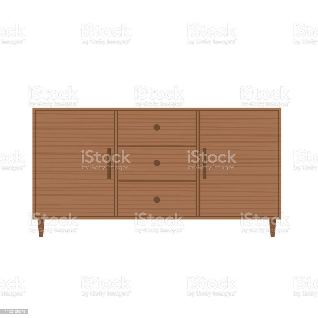 Image of: Midcentury Modern Sideboard Or Buffet Stock Illustration Download Image Now Istock