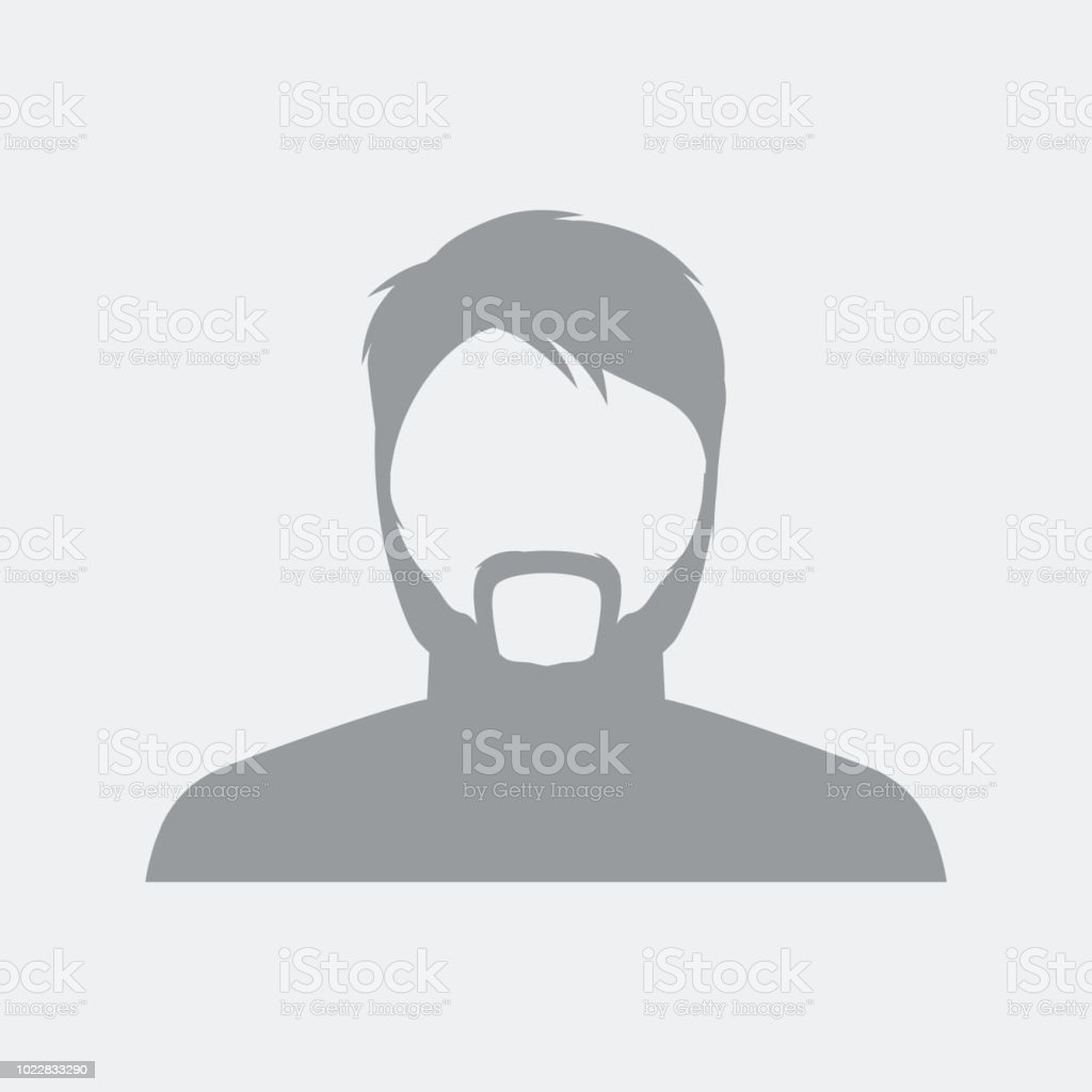 Middle age man profile picture vector art illustration