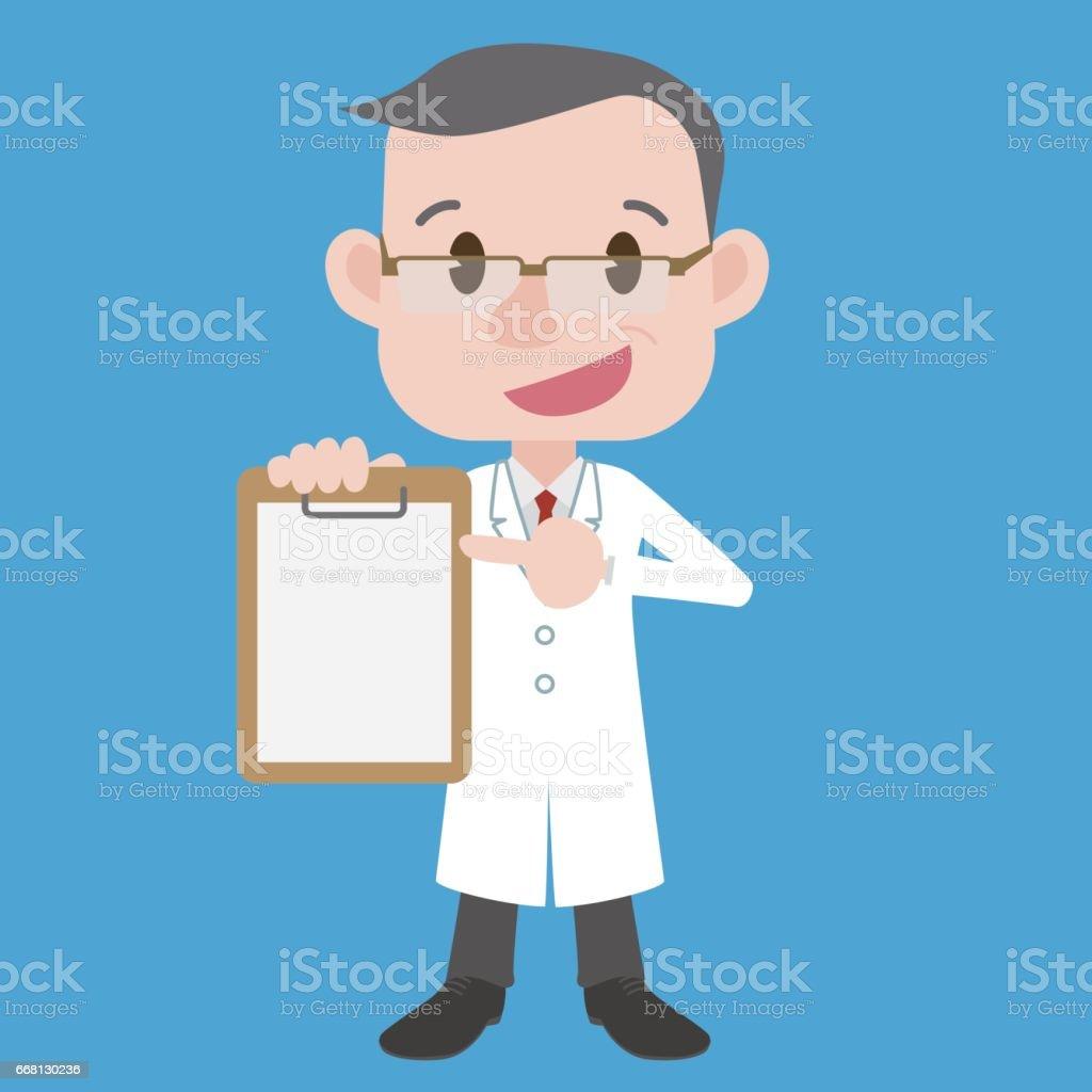 Ans Medecin Caractere Point Milieu Au Document Porte Manteau Blanc Vecteur Clip Art Illustration Vecteurs Libres De Droits Et Plus D Images Vectorielles De Adulte Istock