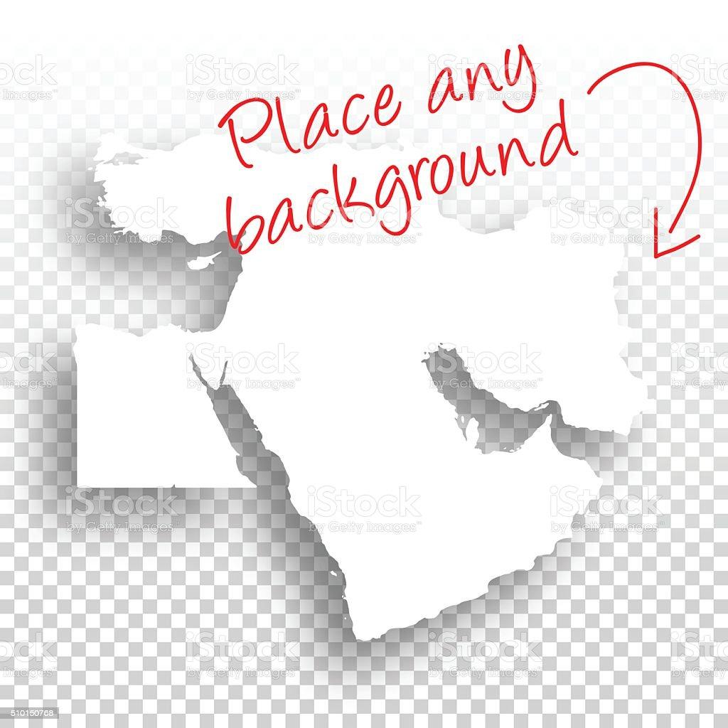 Middle East Map for design - Blank Background vector art illustration