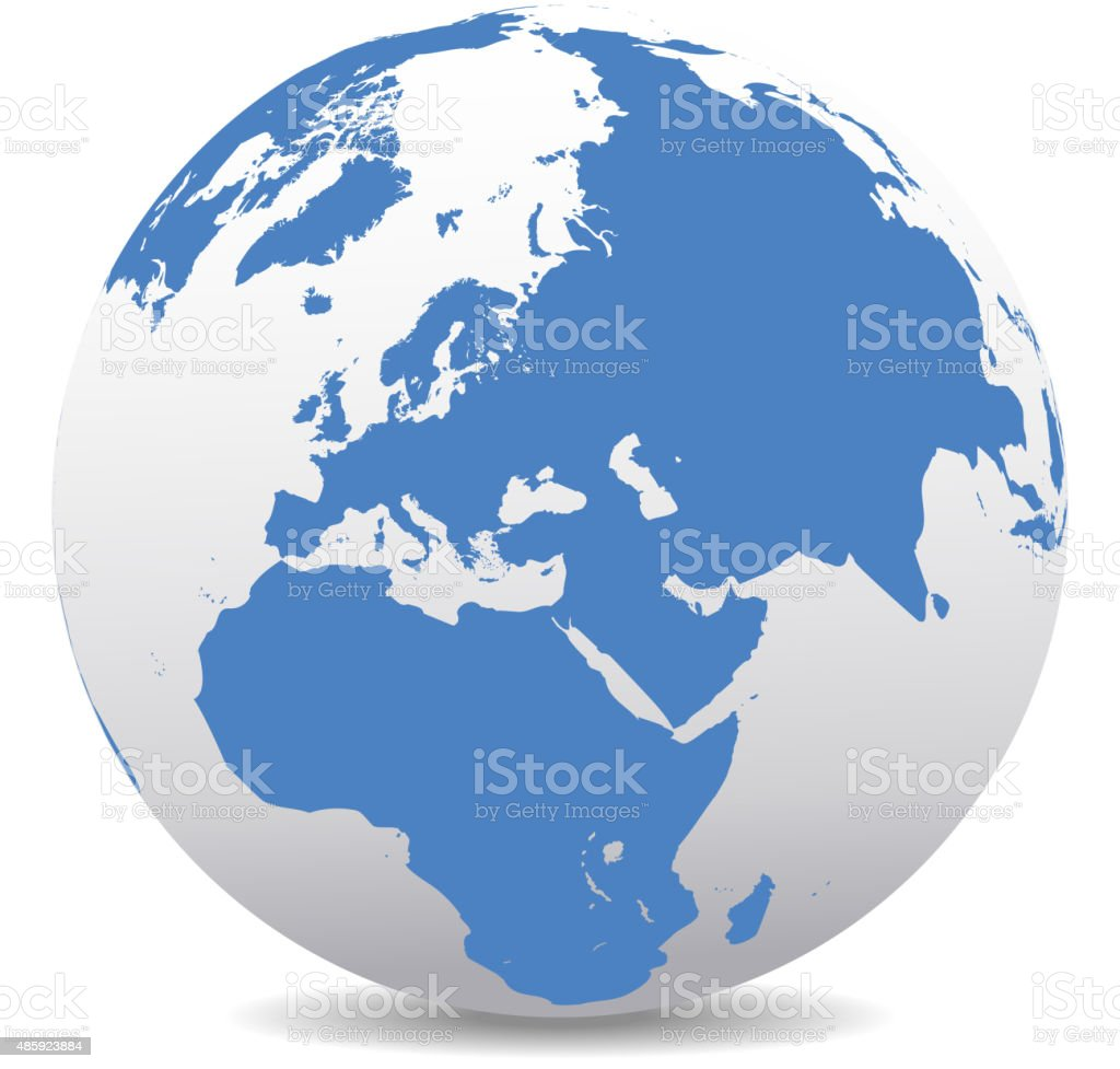 Middle East Russia Europe And Africa Global World Stock ...