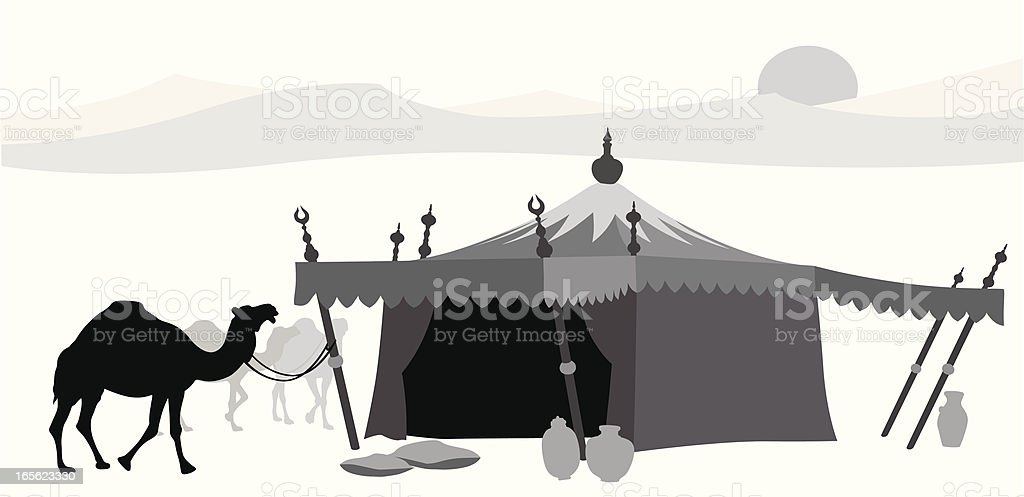 Middle East Vector Silhouette vector art illustration