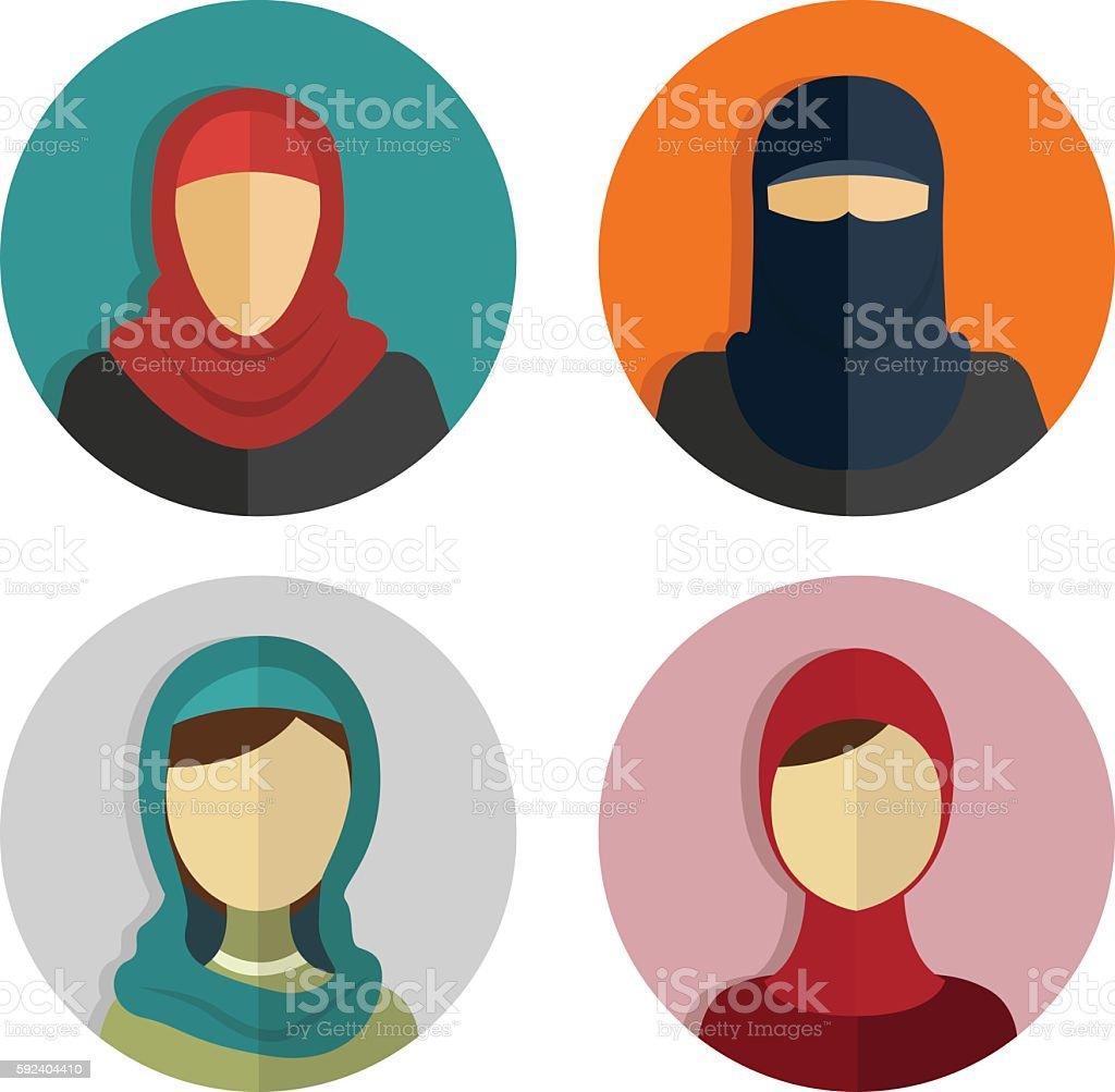 royalty free hijab clip art vector images illustrations istock rh istockphoto com clip art icons and symbols clip art constellations