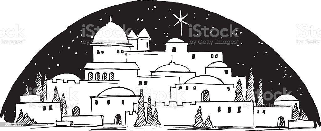 royalty free bethlehem clip art vector images illustrations istock rh istockphoto com bethlehem clipart black and white bethlehem clipart free