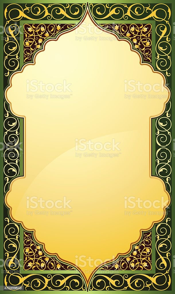 Middle eastern design background vector art illustration