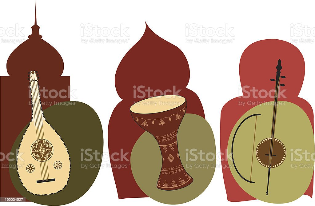 Middle Eastern Instruments (Vector) royalty-free stock vector art