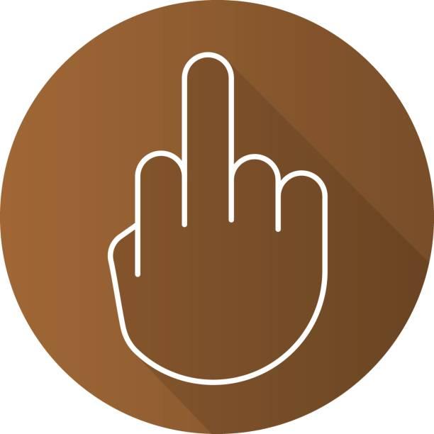 ilustraciones, imágenes clip art, dibujos animados e iconos de stock de dedo hasta el icono - middle finger