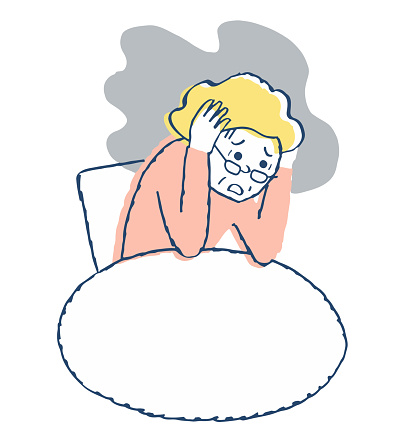 Middle-aged woman with mental illness