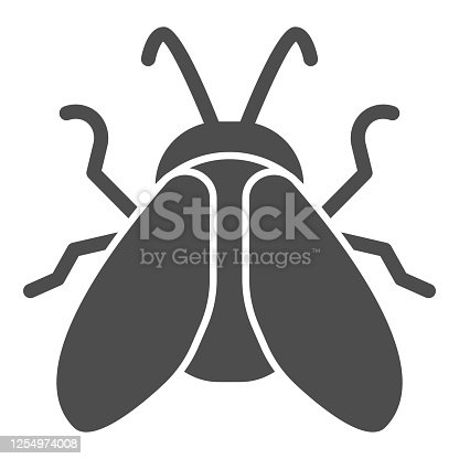 solid icon, Insects concept, sign on white background, icon in glyph style for mobile concept and web design. Vector graphics