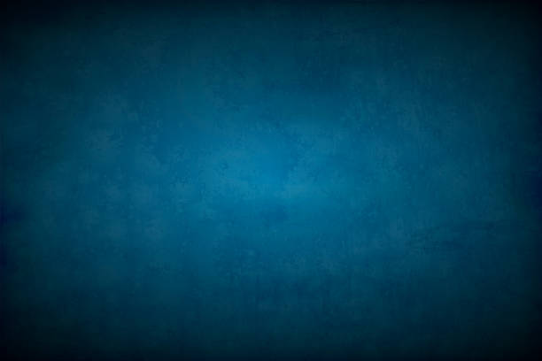 Midnight blue coloured wall textured empty vector backgrounds Horizontal vector illustration of a faded dark blue colored empty, blank, wall textured background. dark blue stock illustrations
