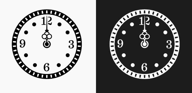 Royalty Free New Year Clock Clip Art, Vector Images ...