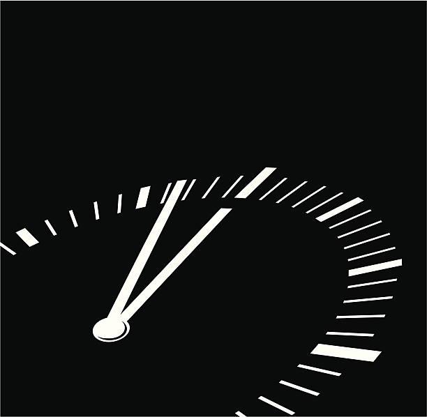 Uhr bis Mitternacht – Vektorgrafik