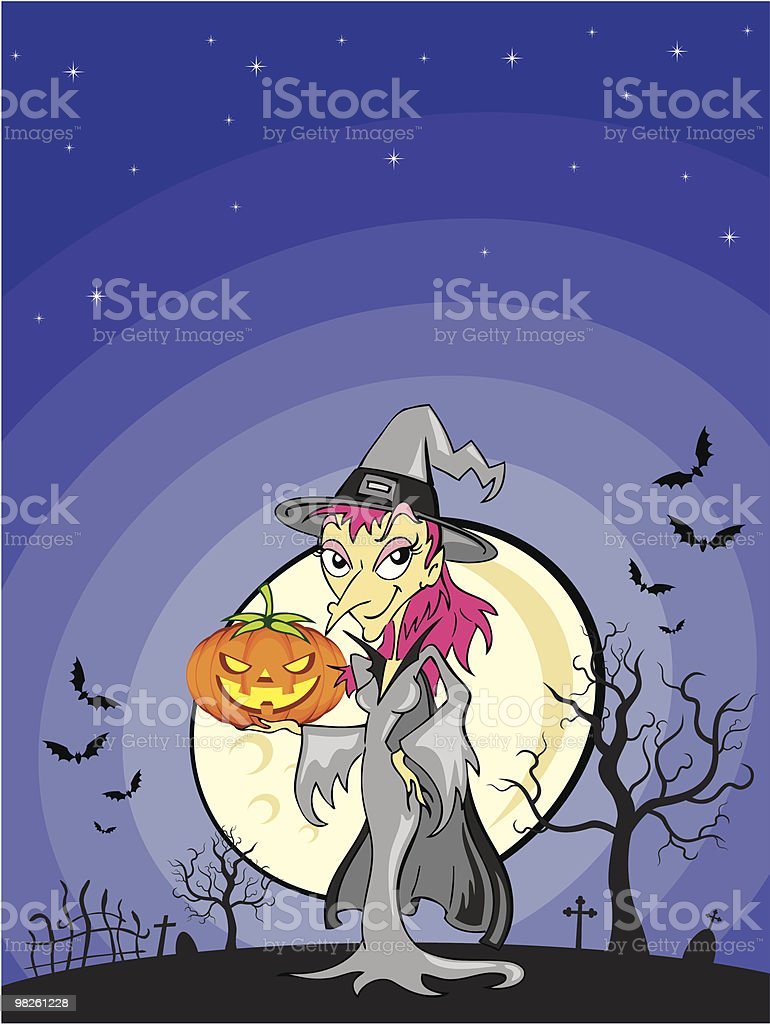 Midnight witch royalty-free midnight witch stock vector art & more images of bat - animal