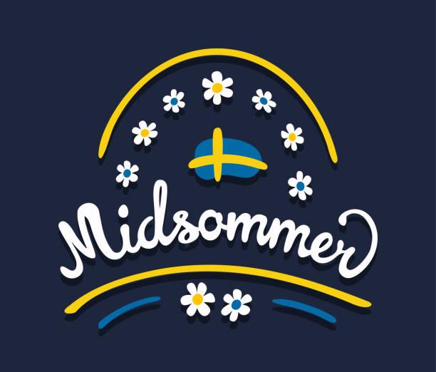 bildbanksillustrationer, clip art samt tecknat material och ikoner med midsommar eller midsommar i svenska språket. - summer sweden