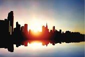 Midtown Manhattan sunrise