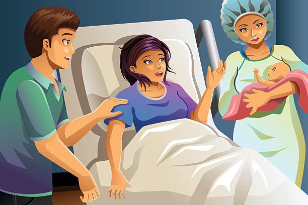 Midwife stock illustrations