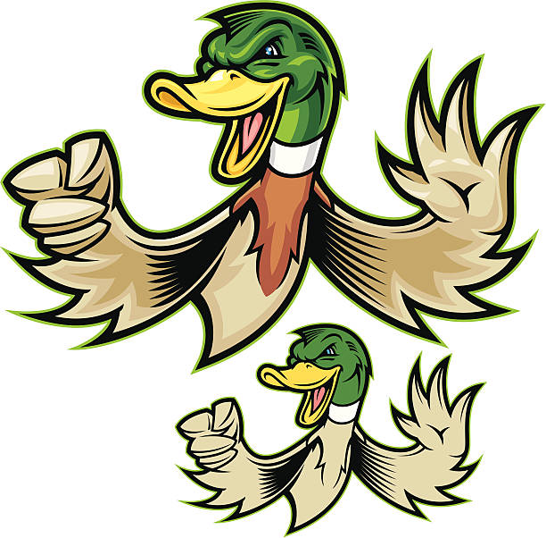 Mighty Duck vector art illustration