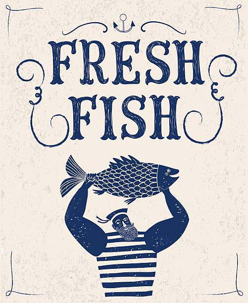 雄大なセーラー漁師 - 漁師点のイラスト素材/クリップアート素材/マンガ素材/アイコン素材